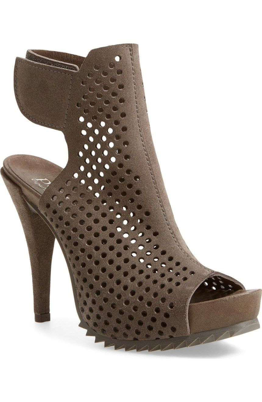 590f1f415c1 On the hunt for an edgy going out shoe  Look no further than this Pedro  Garcia  Persis  Sandal. These bold perforated-suede heels boast some serious  ...
