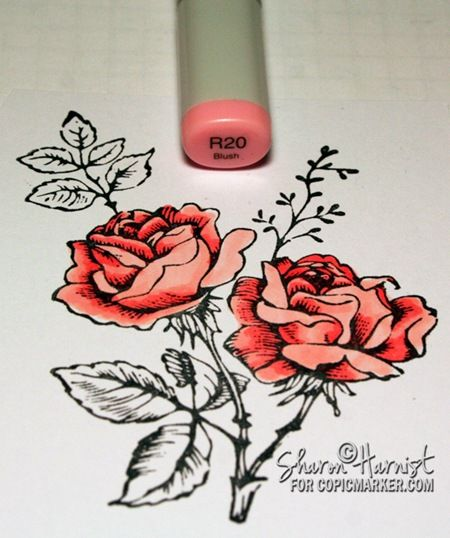 copic inspire tutorials copic and flowers rh pinterest co uk Copic Coloring Techniques Copic Coloring Techniques