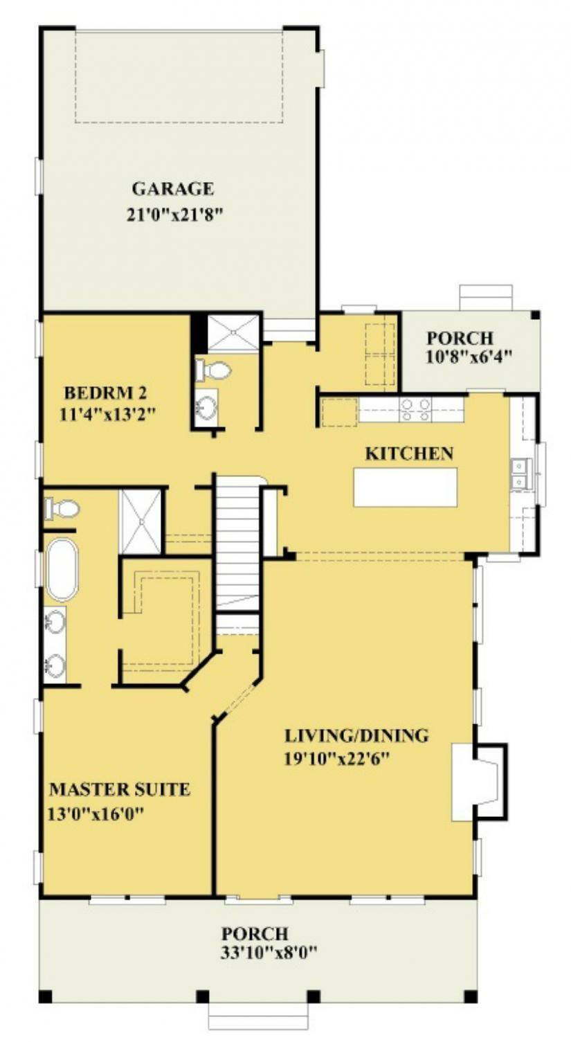 655999 Charming 3 bedroom 3 bath plan with open floor