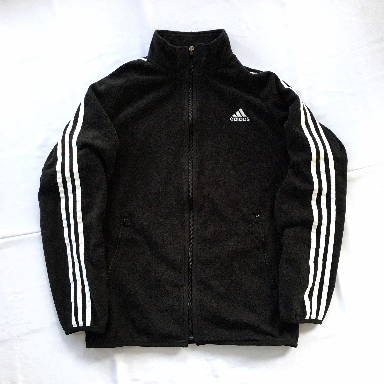 Vintage Adidas Fleece Sweatshirt Full Zip Sweatshirt Adidas Etsy Adidas Jacket Women Vintage Adidas Addidas Jacket [ 3000 x 3000 Pixel ]