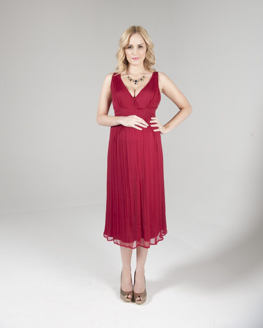 Crave Grecian Dress In Raspberry Rrp 115 5 Day Rental 41