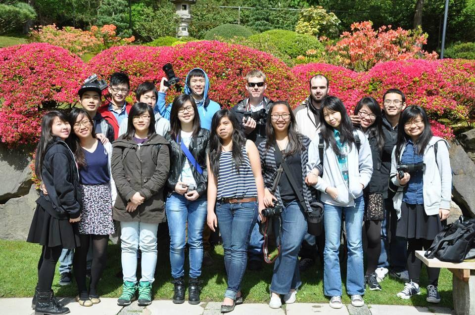 Green River Community College international students visit