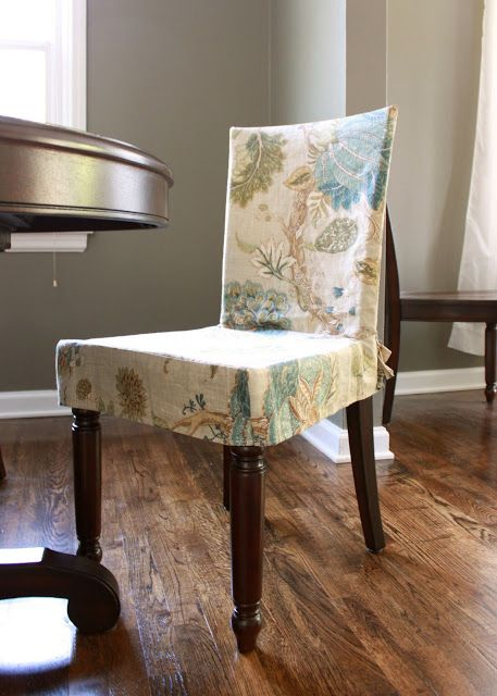 Dining Chair Slipcover No Tutorial