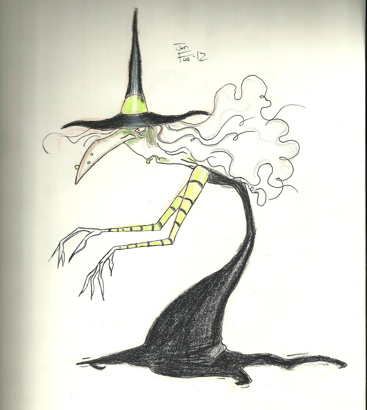 Tim Burons Nightmare before Christmas witch illustration | Mr ...