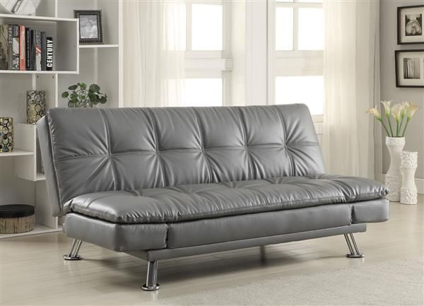coaster furniture dilleston grey sofa bed sofa sofa futon rh pinterest com tufted back sofa in blue tufted back sofa with skirted bottom