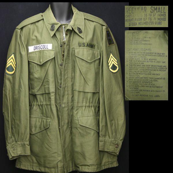 La Field Jacket M 51 de l'US Army.   Veste