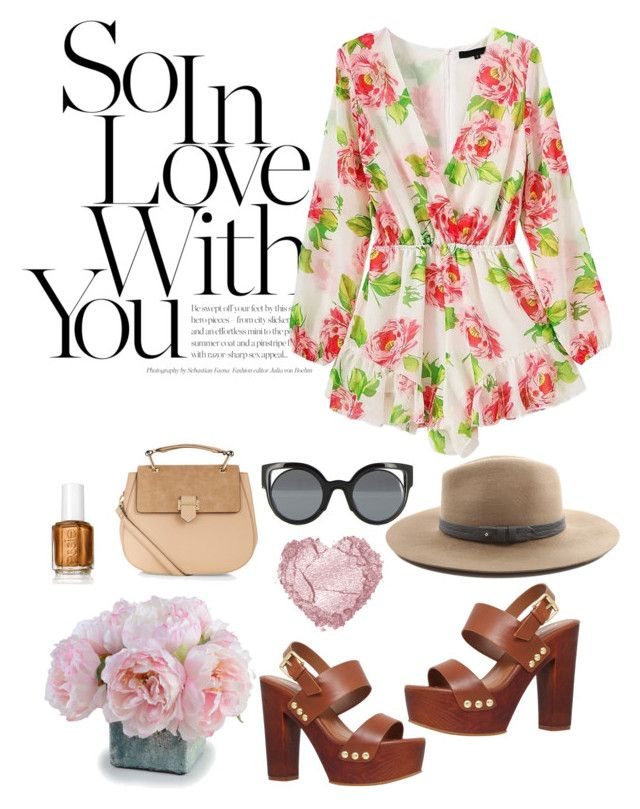 """""""Floral makes me romantic"""" by nathaliagoomes on Polyvore featuring New Growth Designs, Miss KG, WithChic, Accessorize, Fendi and rag & bone"""