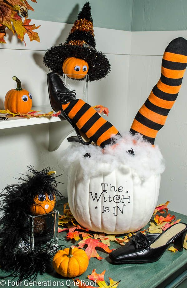 Cute Diy Halloween Pumpkin 30 Minutes Halloween Pumpkin Diy Pumpkin Halloween Decorations Pumpkin Decorating Diy