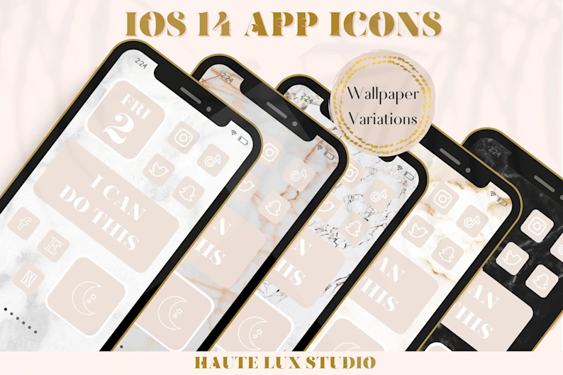 155 Ios 14 App Icons Natural Style Aesthetic Iphone Home Etsy App Icon Iphone Icon Iphone Apps