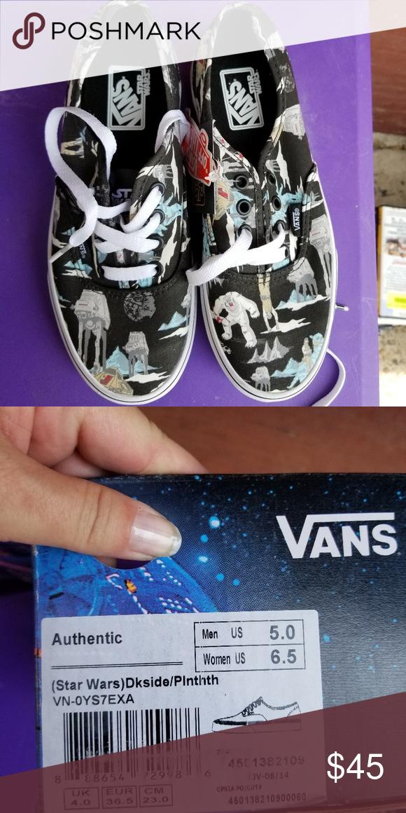 c33de284c571bc Star Wars Vans Brand New Men s Size 5 Women s 6.5 Vans Shoes Athletic Shoes