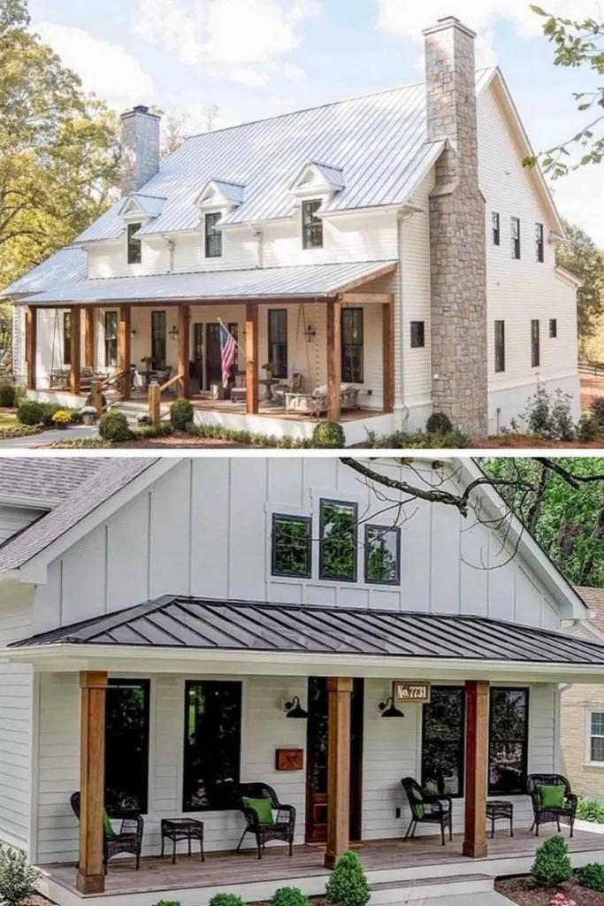 15 Top Modern Farmhouse Exterior Design Ideas Exteriordesign Exterior Exteriorideas Beautiful In 2020 Steel Building Homes Metal Building Homes Barn House Plans