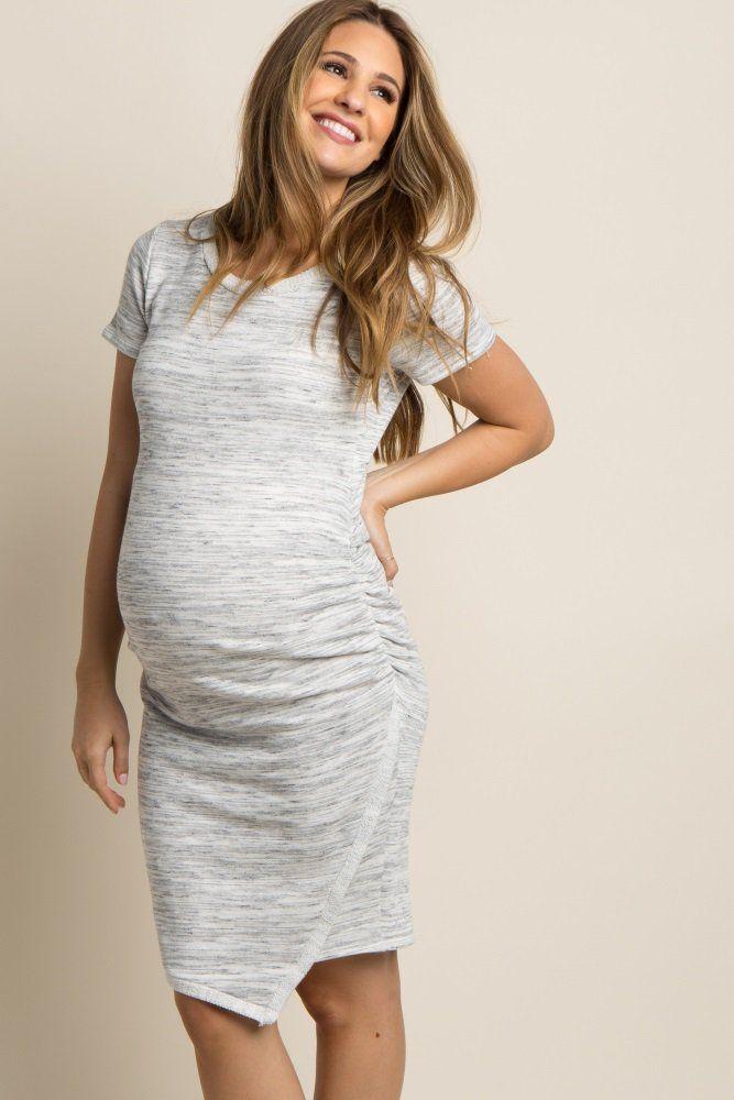 Stylish Pregnant Women Summer Comfy Maternity Dress Breastfeeding Casual Dress