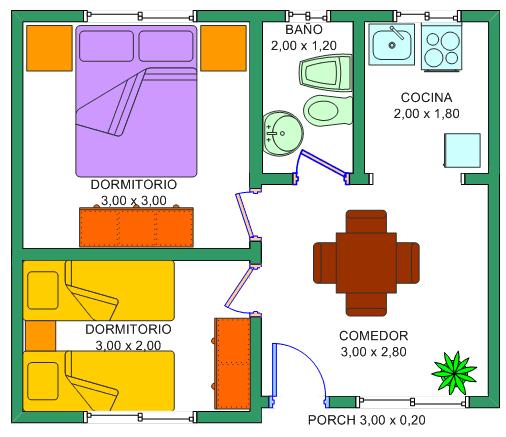 Plano casa 6x6 buscar con google mine pinterest casas planos de casas y casas de 1 piso - Diseno de casas pequenas ...