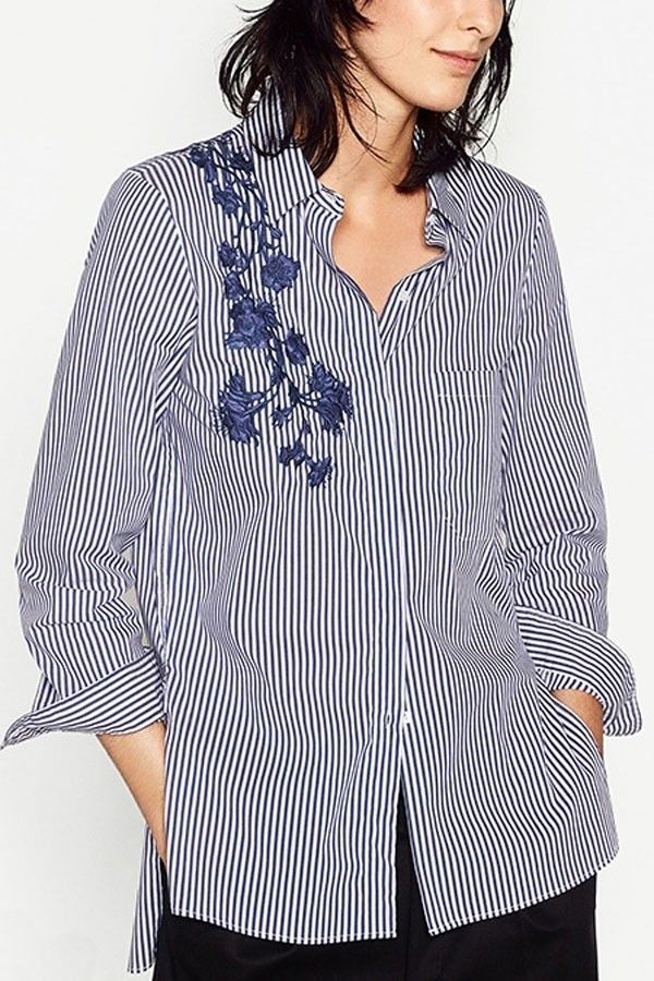 c478a944 Картинка с тегом «embroidery, blue white, and shirts» | embroidery ...