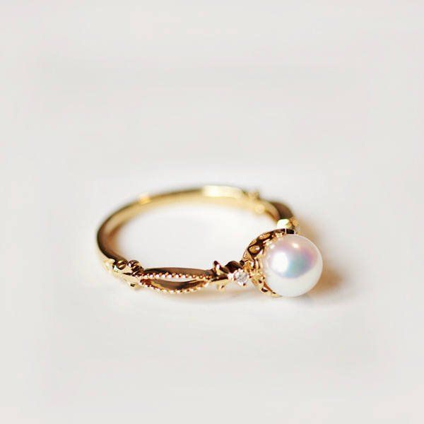 Pearl Engagement Rings From Etsy Popsugar Fashion