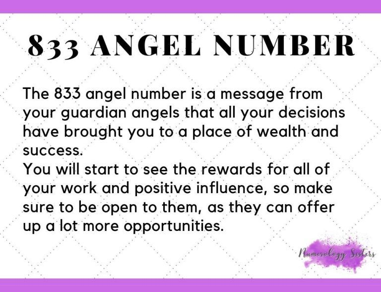 833 Angel Number Meaning  With Images