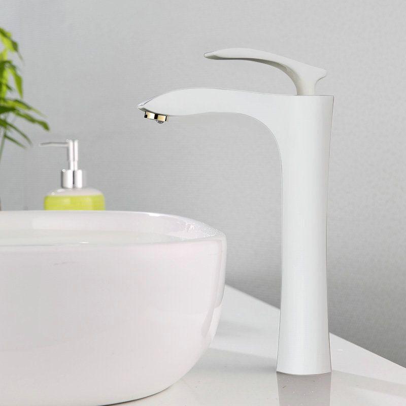 Moderne Waschtischarmatur Weiss Bad Einhand Waschtischarmatur