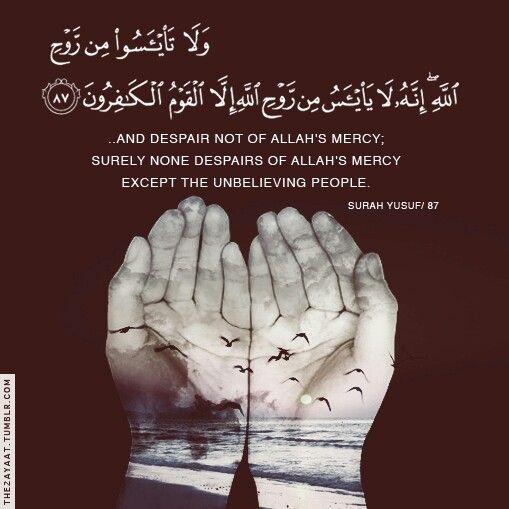 و لا تياسوا Quran Quotes Islamic Quotes Islamic Phrases