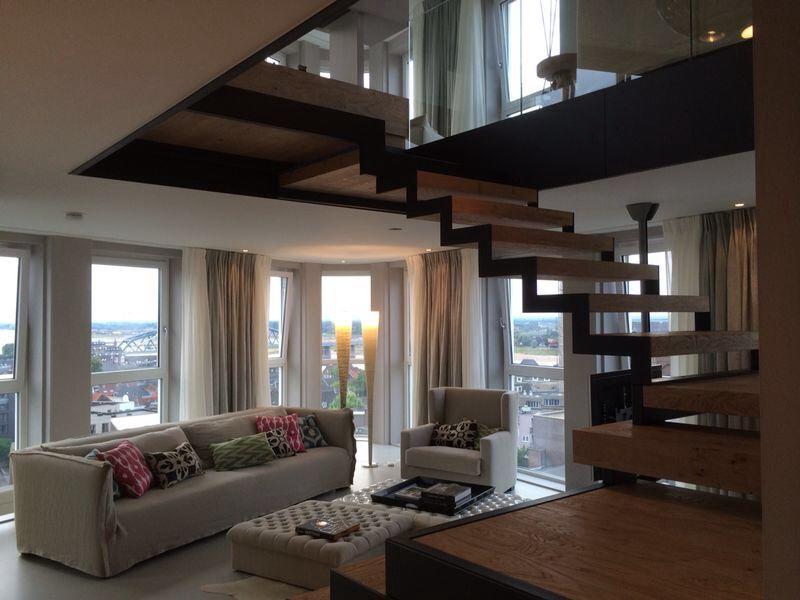 Het interieur van dit luxe appartement werd prachtig vernieuwd in verschillende items van het - Van interieur appartement ...