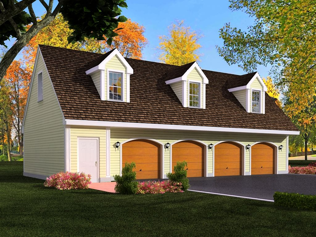 3 Car Garage With Loft | car garage plans from Design Connection ...