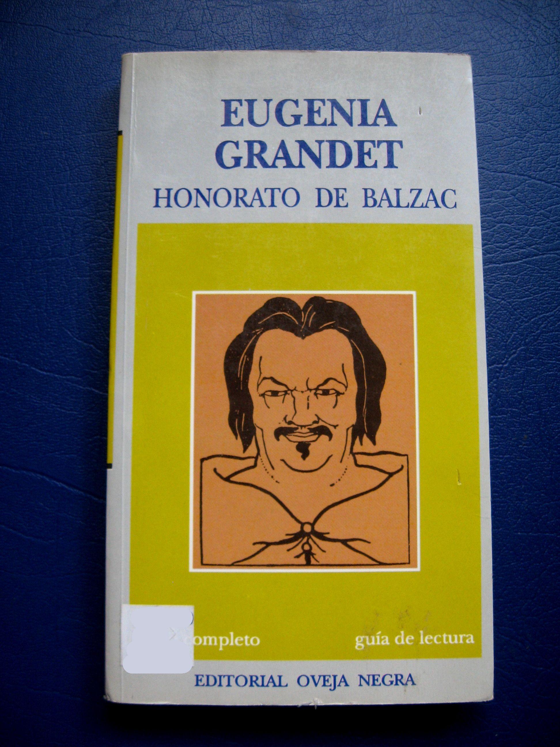 "Libro en español Honorato de Balzac ""Eugenia Grandet"" Used"