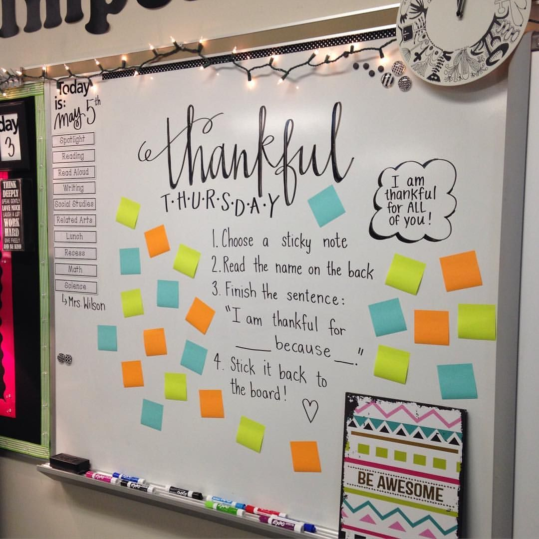 Who Are You Thankful For Thankfulthursday Miss5thswhiteboard