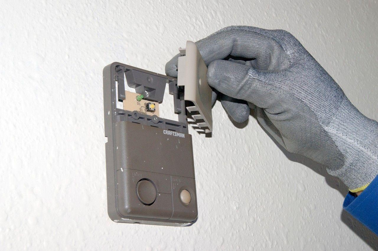 How to replace a garage door opener wall control Garage