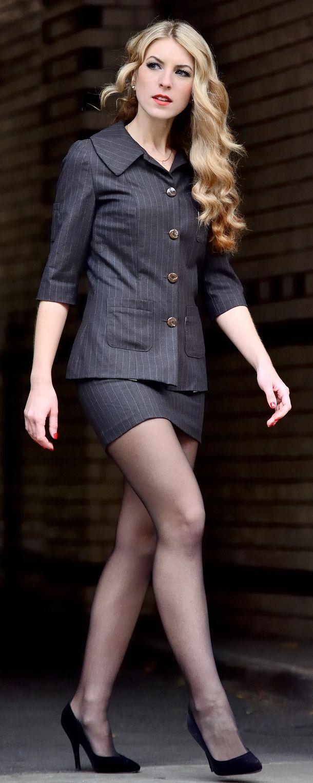 Office skirt pantyhose