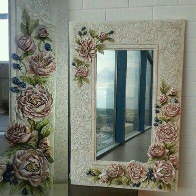 Marcos y cuadros como decoraci n Marcos para espejos artesanales