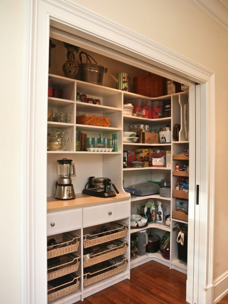 Kitchen closet design ideas well kitchen pantry home for Well decorated kitchen
