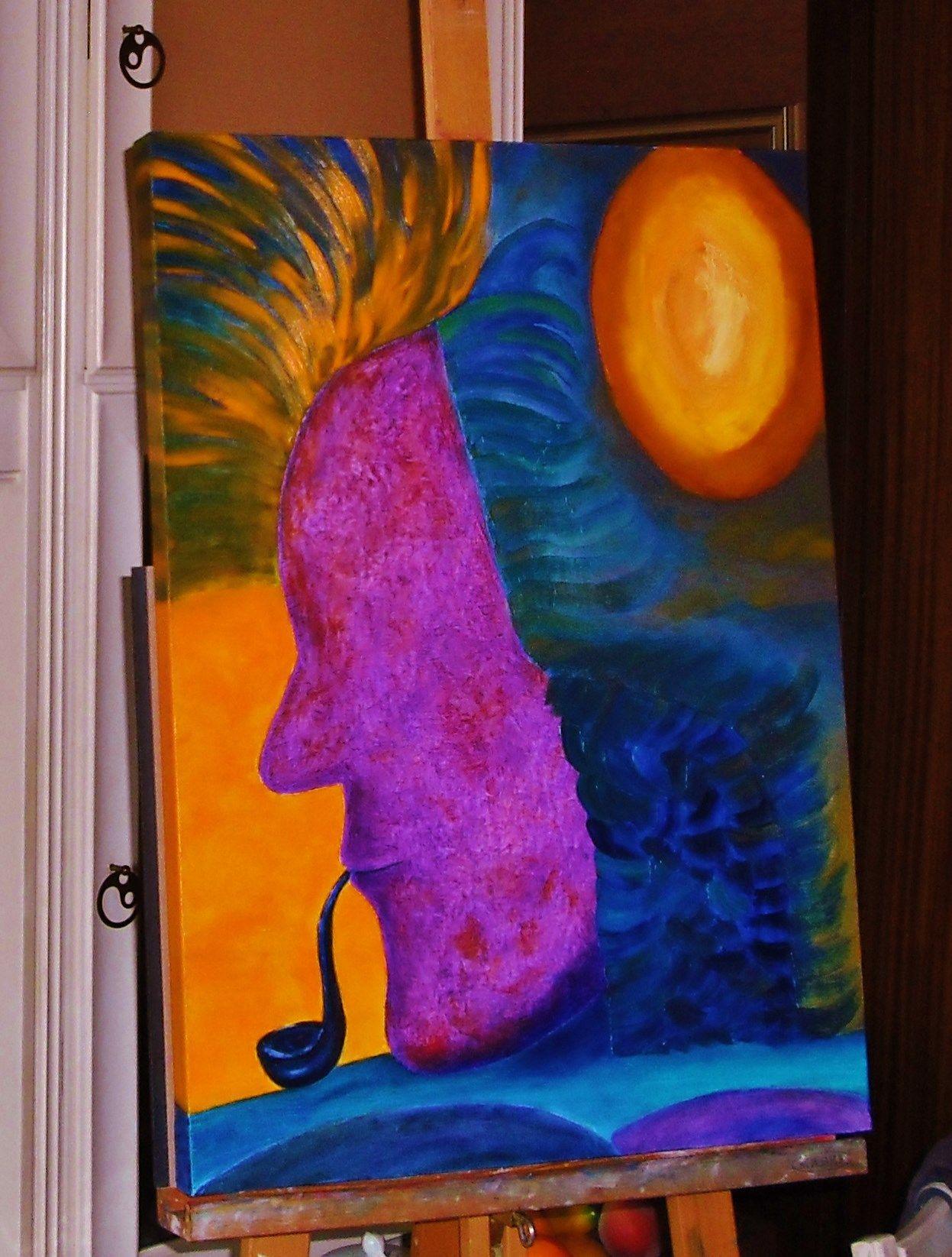 ARTIST LIGIA DORINA DUMITRACHE,OIL ON CANVAS