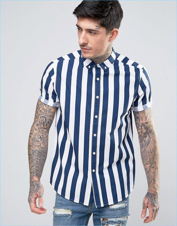 Discover our stylish men's shirts at ASOS. Shop from hundreds of different shirt styles, from check to stripes, long sleeve to three-quarter sleeve shirts.