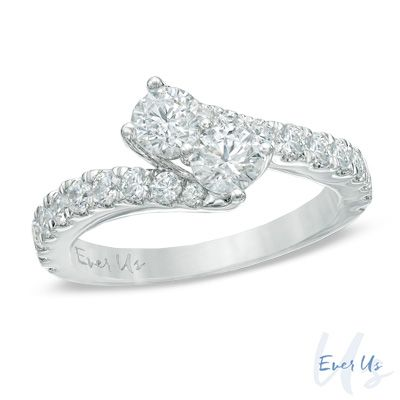 Quot Ever Us Quot Ring Zales Com L 1 1 2 Ct T W Two Stone