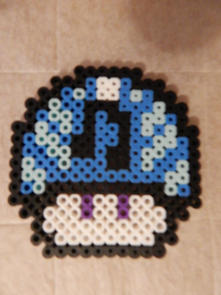 Vinyl Scratch Inspired Mushroom Perler beads