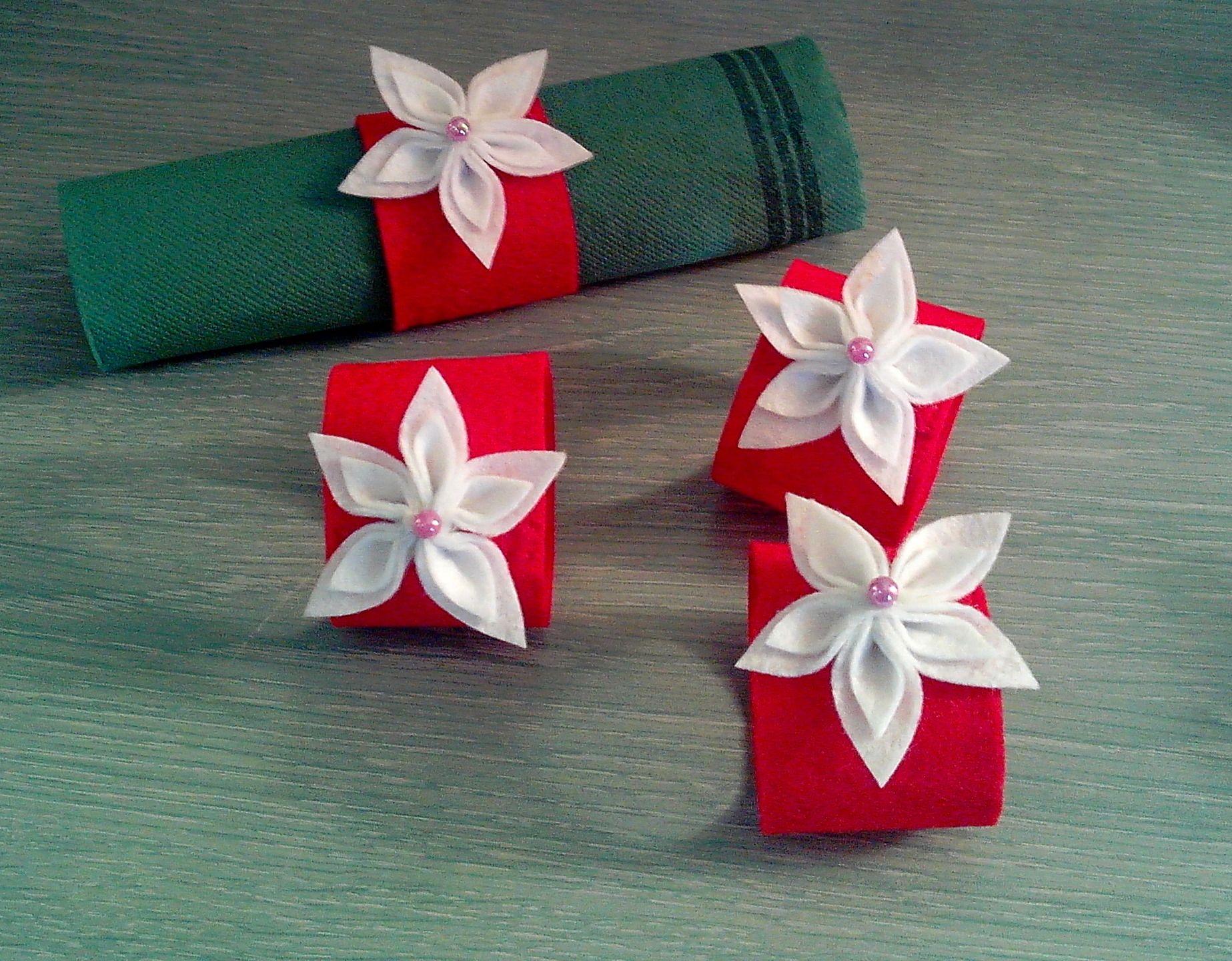 Rond De Serviette A Fabriquer Pour Noel ravissants ronds de serviettes en feutrine pour les fêtes de