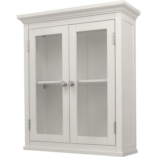 classique white wall cabinet with two doors essential on wall cabinets id=72024
