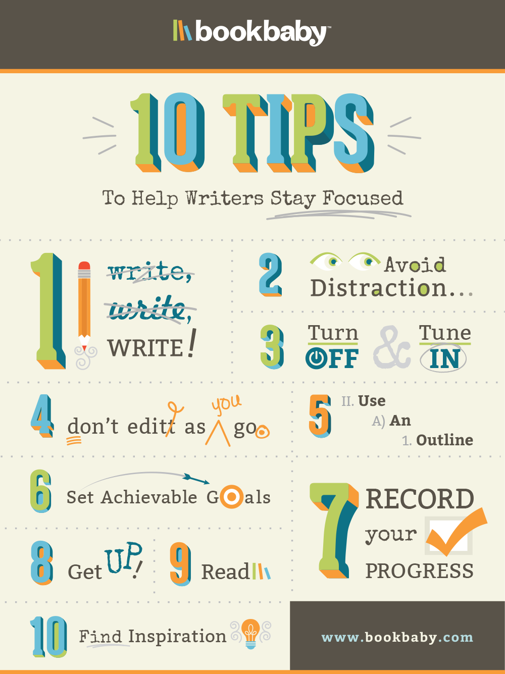 10 tips to help writers stay focused  Inspiration For