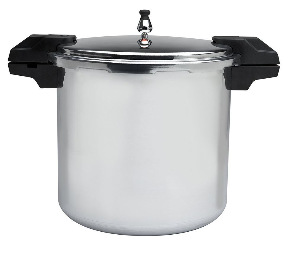 Mirro 22-Quart Polished Aluminum Pressure Cooker Canner Cookware Secure Lid NEW #Mirro