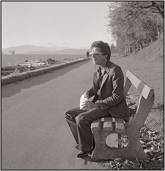 Leonard cohen on the vancouver sea wall 1978 photograph for Mural leonard cohen