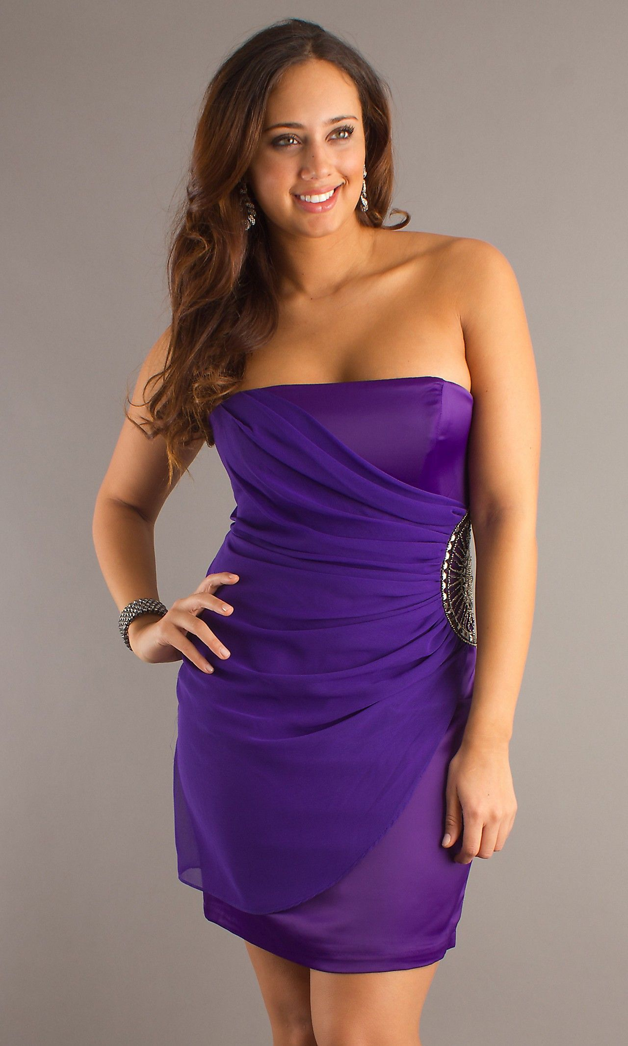 Vogue Short Strapless Beaded Plus Size Dress SPECIAL PRICE: $73.00 ...