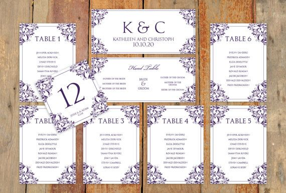 Wedding Seating Chart Template DOWNLOAD by DiyWeddingTemplates - free printable seating chart