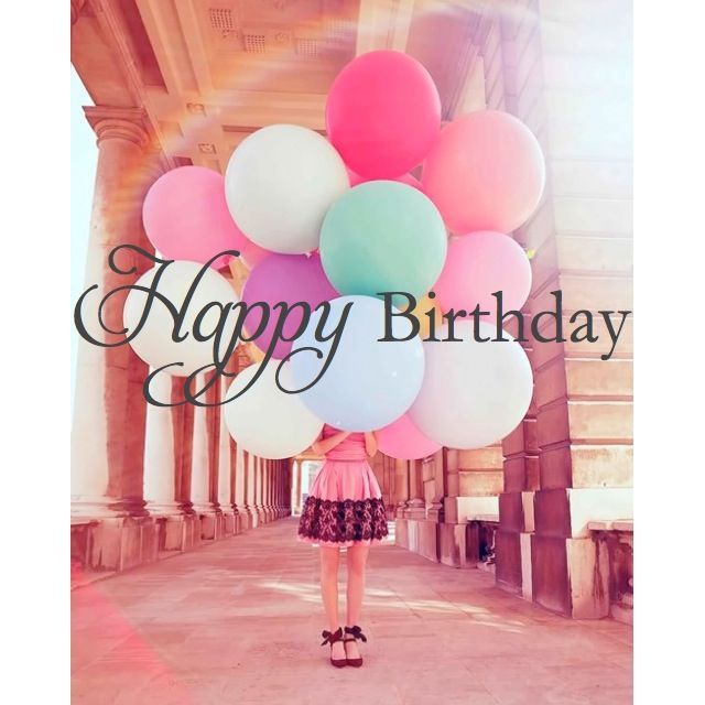 Happy Birthday Balloons For Girls   Pink Balloon