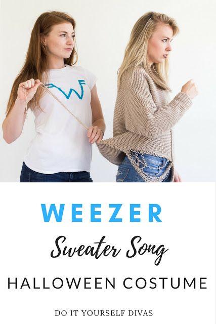 Do it yourself divas diy weezer sweater song halloween costume for do it yourself divas diy weezer sweater song halloween costume for best friends costume solutioingenieria Images