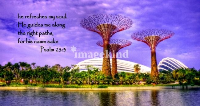 Psalm 23 , Garden by the Bay Singapore Art Prints by Forever Summer Design - Shop Canvas and Framed Wall Art Prints at Imagekind.com