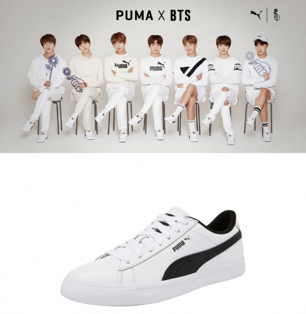 BTS x Puma Court Star Shoes Sneakers ARMY Official Fast Shipping