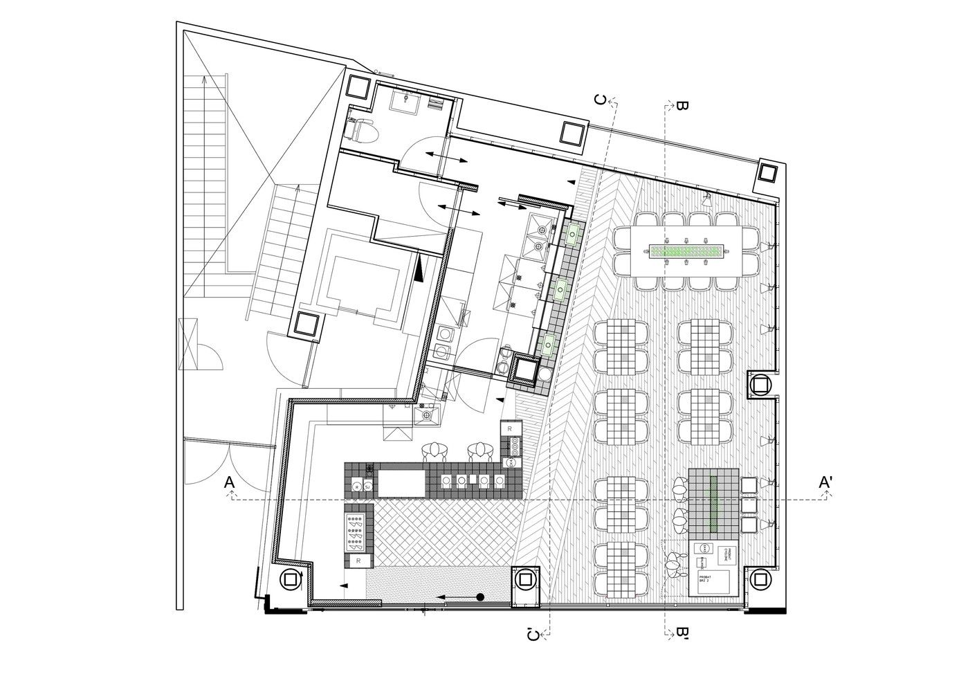 Galeria de caf coutume aoyama cut architectures 28 for Juice bar floor plan