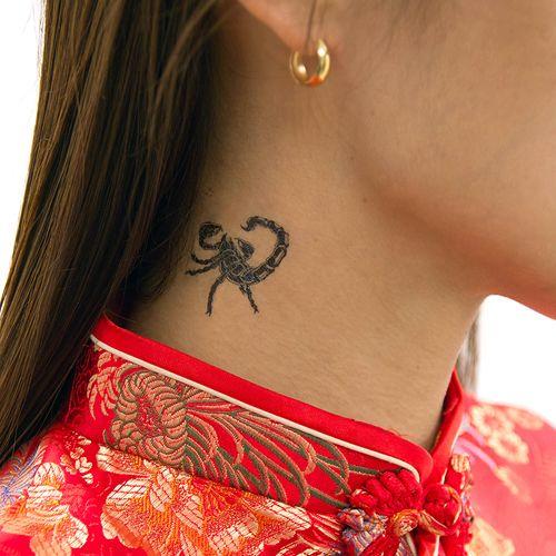 Scorpion Tattoo Neck Beautifully Tattooed Tattoos Body Art