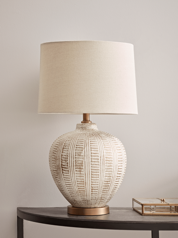 Textured Ceramic Table Lamp In 2020