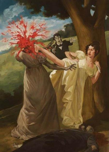 Vintage Zombie Hunter #art