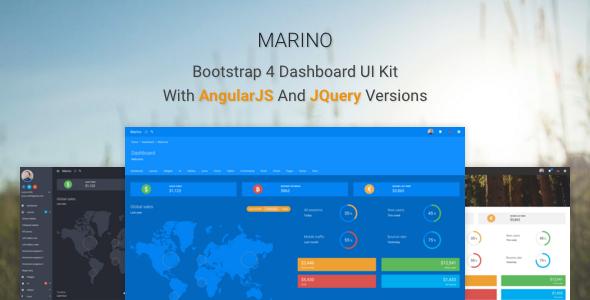 Download Free Marino - Bootstrap 4 Dashboard UI Kit # admin